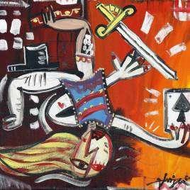 La Vita Circense quadro moderno dedicato alla vita del circo, quadro ispirato sul mondo del circo
