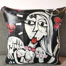 cuscino in ecopelle 40x40cm bellissimo accessorio per il divano o il letto