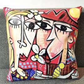 cuscino colorato con disegno romantico di Alessandro Siviglia
