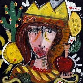 dipinto moderno originale dipinto a mano dall'artista Alessandro Siviglia per arredare b&b in Sicilia