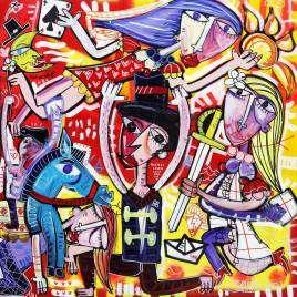 quadro moderno molto colorato con colori acrilici brillanti e vernice spray originale Siviglia quadro dinamico molto decorativo per arredare casa o studio dentistico