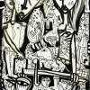 quadro moderno in bianco e nero dipinto originale quadro astratto per arredare casa opera d'arte esclusiva ed unica per esaltare ambienti moderni